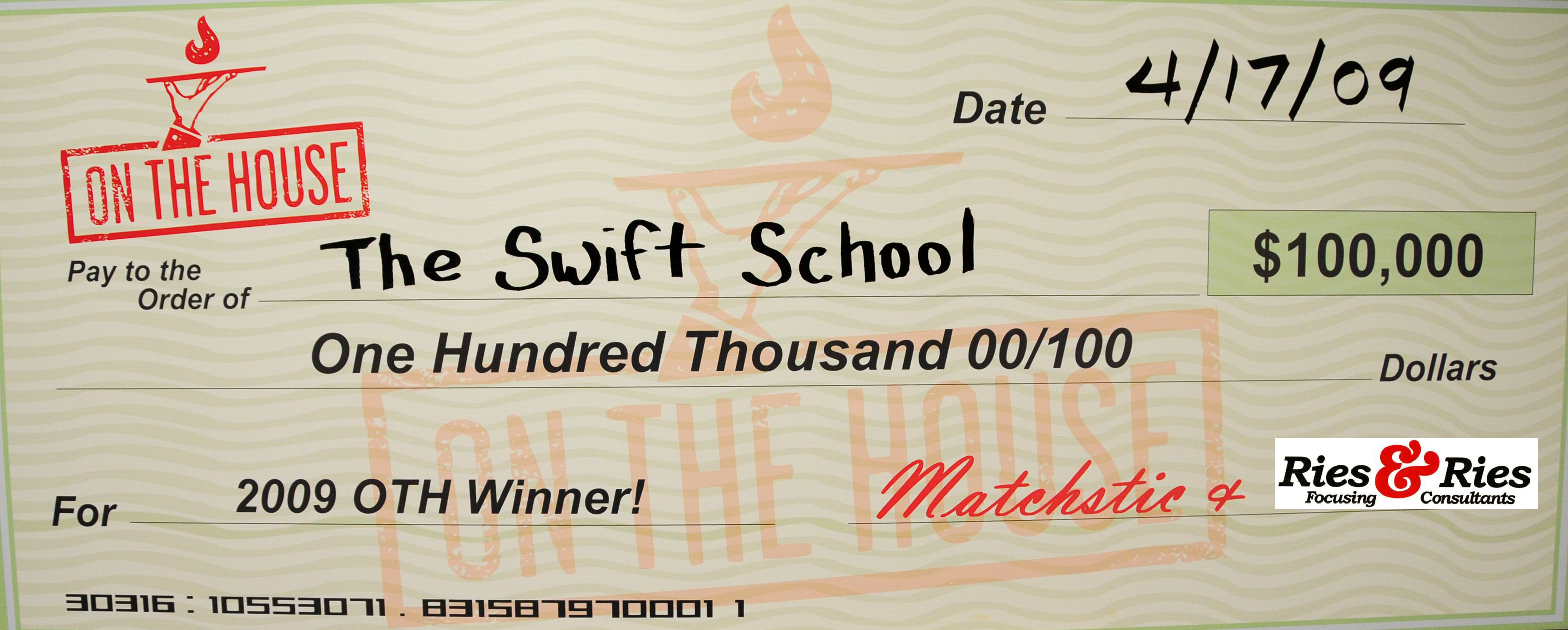 Winning The $100,000 On The House Marketing Make Over Is Just What Swift  Needs To Get There.