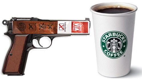 Starbuck shoots itself