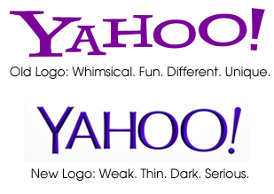 Yahoo logos
